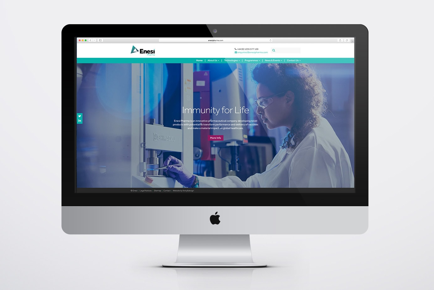 forty6 design_Enesi website